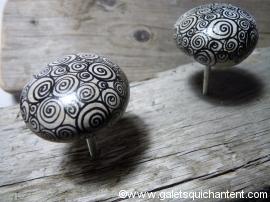 Bouton-poignée galet Cercles
