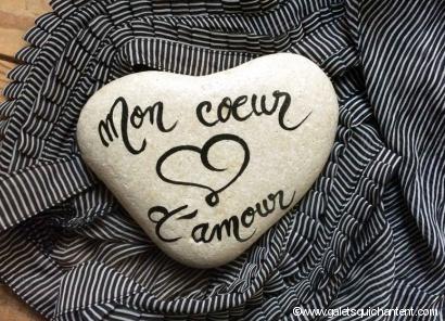 Galet Mon cœur d'amour