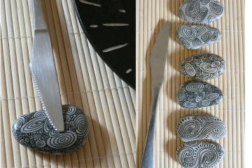 Porte-couteaux / décor graphic